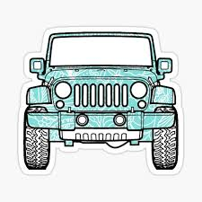 Blue Jeep Stickers Redbubble
