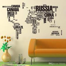 Wholesale 190 116 Cm Large World Map Wall Sticker Removable Pvc Diy Maps Decals For Home Living Room Office Kids Room Decor Mirror Wall Decals Mirror Wall Stickers From Fahome 6 04 Dhgate Com