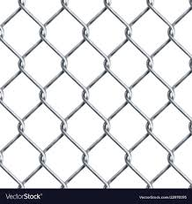 Realistic Chain Link Chain Link Fencing Texture Vector Image