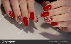 Nail Designs Red Colors Stock Photo C Smirmaxstock 187896644