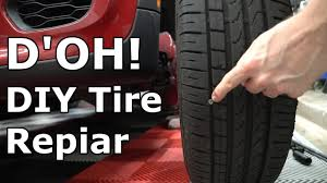 tire puncture from a nail or