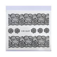 10 Pcs Lace Flower Design Sticker Decal Water Transfer Nail Art Sticker Yzw 8653 Buy At A Low Prices On Joom E Commerce Platform