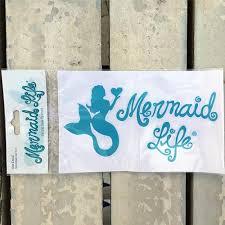 Coastal Mermaid Life Stickers Mermaid Life