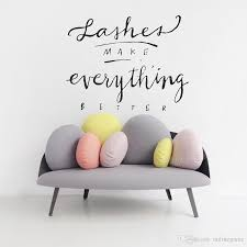 Lashes Make Everything Better Vinyl Wall Decal Quote Beauty Salon Wall Decor Eyelash Make Up Wall Stickers Girls Bedroom Home Decals Walls Home Decor Decals From Onlinegame 7 7 Dhgate Com