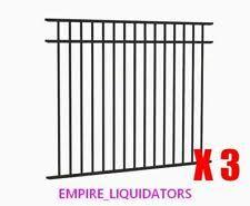 Jerith Aluminum Fence Adjustable Wall Mount 1 X 1 Residential Black Ebay