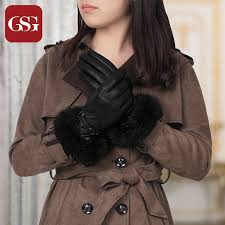 leather gloves las real rabbit