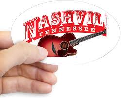 Amazon Com Cafepress Nashville Guitar Oval Bumper Sticker Euro Oval Car Decal Home Kitchen