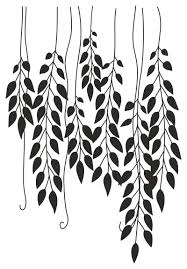 hanging leaves wall sticker 44 x64