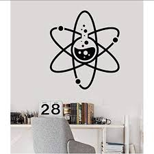 Amazon Com Wall Stickers Murals Vinyl Wall Decal Laboratory Atomic Chemistry Science Laboratory School Teacher Decorative Sticker 57x65cm Kitchen Dining