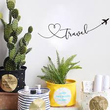 Love Travel Wall Decal Pvc Decorative Wall Sticker Heart Travel Themed Nordicwallart Com