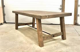 4x4 leg industrial farmhouse table