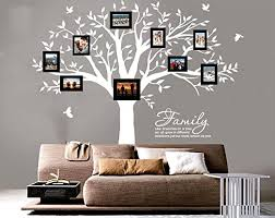 Amazon Com Luckkyy Grant Family Tree Wall Decal With Family Like Branches On A Tree Wall Decal Sticker Quote 83 Wide X 83 High White Home Kitchen