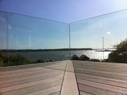 balcony with glass railing