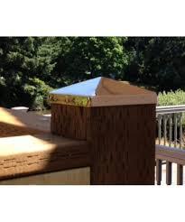 6 1 8 Full 6x6 Copper Pyramid Fence Post Cap