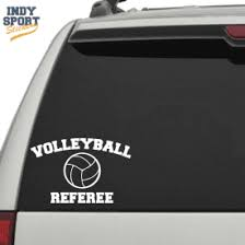 Volleyball Referee Text With Volleyball Car Stickers And Decals