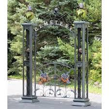 Iron Halloween Cemetery Gate With Arch Zaer Ltd International