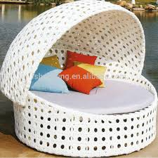 round rattan daybed outdoor wicker