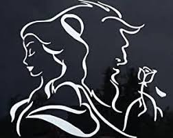 Amazon Com Beauty And The Beast Decal Vinyl Sticker Cars Trucks Vans Walls Laptop White 5 5 X 5 In Lli186 Automotive