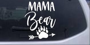 Custom Personalized Bear Name Vinyl Decal Sticker Laptop Car Truck Van Mama
