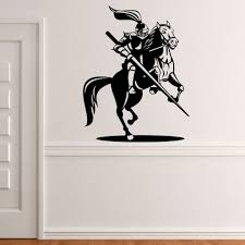Knight On Horse Jousting Wall Sticker Decal World Of Wall Stickers