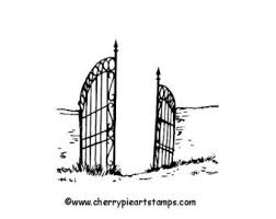 Graveyard Fence Drawing Clip Art Library