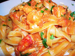 Fettucine with Pink Lobster Sauce ...