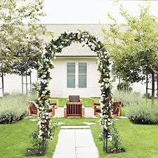 real outdoor flower garden arch trellis