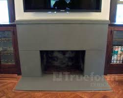 concrete fireplace surround trueform