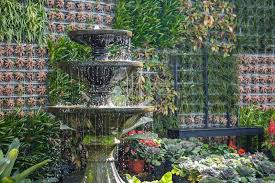 botanic garden decoration stock image