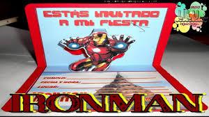Como Hacer Una Invitacion De Iron Man Youtube