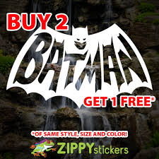 Batman Retro Decal Vinyl Decal Sticker Old School Batman Logo Zippy Stickers Vinyl Decal Stickers