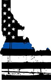 Thin Blue Line Decal State Of Idaho Tattered Flag Decal Various Sizes Ebay
