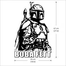 Boba Fett Vinyl Wall Art Decal Wall Tattoo