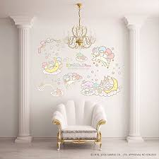 Wall Sticker Little Twin Stars Genuine Sanrio Kiki Lala Japan Limited Wallpaper Ebay