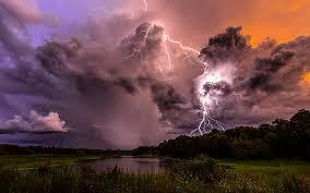 nature thunder lightning clouds sky