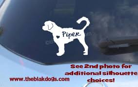 Portuguese Water Dog Silhouette Vinyl Sticker Personalized Etsy