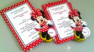 15 Modelos De Invitaciones De Minnie Mouse Youtube
