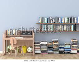 Interior Bookshelf Room Library Kids Room Stock Illustration 427829965