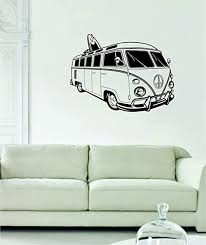Amazon Com Vw Mini Bus Volkswagen Surfer Car Decal Sticker Wall Vinyl Art Home Kitchen