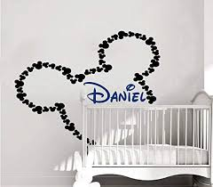 Amazon Com M M Wall Decal Name Boy Vinyl Sticker Decals Personalized Baby Boy Name Decor Kids Nursery Baby Room Decor Custom Name Decals Kitchen Dining