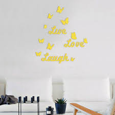 Live Laugh Love Acrylic Wall Stickers Butterfly Mirror Decal Home Sticker Decor Ebay