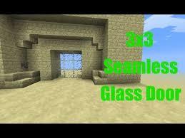 3x3 seamless glass door