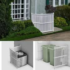 Outdoor Privacy Screen Panels Fence Divider Hide Air System Trash Can White S For Sale Online Ebay