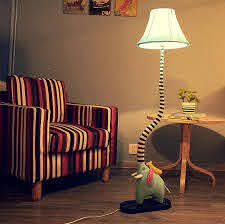 2020 Creative Cute Elephant Type Floor Lamp Cartoon Lamp Bedroom Living Room Childrens Room Rustic Fabric Lamp Reading Lamp Nightlights From Henrry 145 63 Dhgate Com