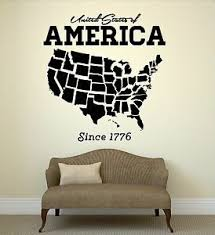 Wall Decal United States Usa Map State Coolest Room Art Vinyl Stickers Ig2679 Ebay