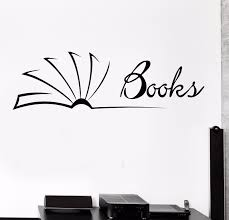 Vinyl Wall Decal Library Books Bookstore Reader Book Shop Stickers 730ig Wall Painting Decor Vinyl Wall Diy Wall Painting