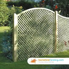 Convex Diamond Trellis Fence Panels 6ft X 6ft Natural