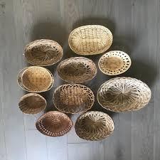 baskets boho wall decor vintage