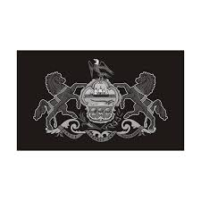 Pennsylvania State Subdued Flag Black Gray Decal Pa Vinyl Sticker Rotten Remains High Quality Stickers Decals
