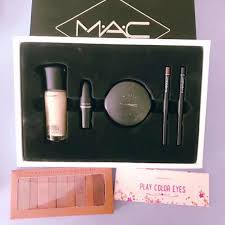 po mac 3ce etude house makeup set